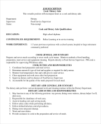 sample dietary aide job description 9 examples in pdf food server job description
