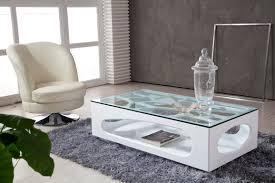 idea for modern glass top coffee table image and description