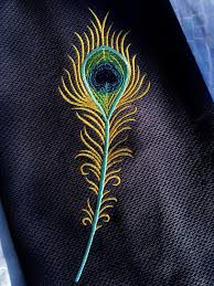 Machine Embroidery Jewelry Designs Machine Embroidery Design Peacock Feather 2 Sizes Hand