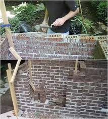 laying bricks for wall how to build an outdoor fireplace homesteading diy skills