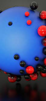 Download 1125x2436 Balls, Red And Blue ...