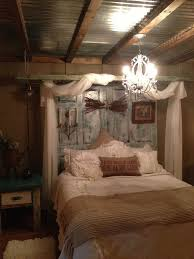 This Is My New Decorated Bedroom. Used Old Ladder For Curtains And Painted  Old Doors