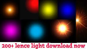 200 lense light png effects zip file 2018