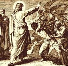 Image result for pictures of Jesus and beelzebub teaching