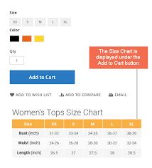 Button Size Chart Bsscommerce Size Chart Extension For Magento 2 Firebear