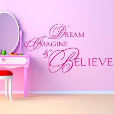 dream imagine believe wall sticker life e wall decal teen girls home decor