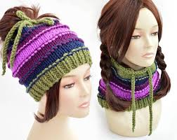 Ponytail Hat Knitting Pattern Extraordinary Hat Knitting Pattern Ponytail Hat Pattern Ponytail Beanie