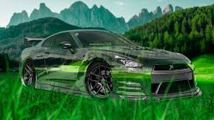 nissan gtr r35 crystal nature car