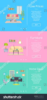 low prices furniture home decor web stock vector 745950151