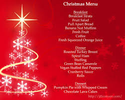 Holiday Menu Whats For Dinner Menu Planning Jill Conyers