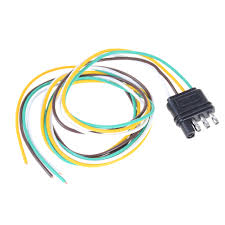 Trailer Light Wiring Harness Us 4 53 31 Off 1pcs New Trailer Light Wiring Harness Extension 4 Pin Plug 18 Awg Flat Wire Connector Trailer Male Plug 90cm 2 95ft In Connectors