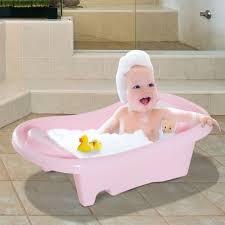 homcom baby bath tub 88cm length infant washing newborn toddler basket bears