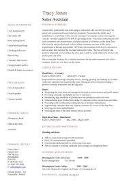 Cv For Retail Sales Assistant Printable Receipt Template