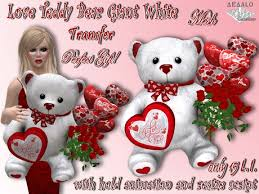 white teddy bears with hearts and roses. Wonderful White Love Teddy Bear Giant White  Valentineu0027s Present Roses And Balloons  GREAT GIFT Mesh  Promo Price To Bears With Hearts And