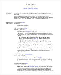 Resume Software Engineer Sample Software Engineer Resume 8 Examples In Word Pdf