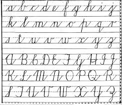 Free Cursive Handwriting Charts Teaching Cursive