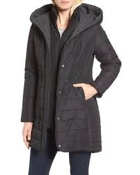 Maralyn & me Quilted Hooded Jacket in Black | Lyst & Maralyn & Me | Black Quilted Hooded Jacket | Lyst Adamdwight.com