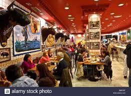 Decorations In Spain Bulls Head Decorations In La Taurina Restaurant Madrid Spain Stock