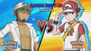 Pokemon Sun and Moon: Profesor Kukui Vs Red (Pokemon Battle Legend Red,  Alola Red) - YouTube