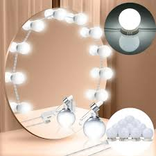 touch dimmer led mirror light kit set