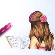 arianagrande bae book books creative draw drawing dress