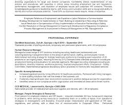 Hr Generalist Resume Excellent Hralist Resume Human Resources Pdf Objective Indian 96