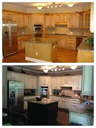 painting maple cabinets. My Dream Kitchen Makeover Before And After Faux To Finish Painted Maple Cabinets Antique Whitealmond Added Light Rail At The Bottom Rope Crown Intended Painting