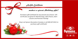 Holiday Gift Certificates Gift Certificates Make A Great Holiday Gift Symons