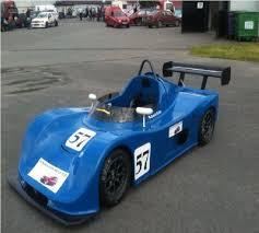blue racing car dun laoghaire motor worx