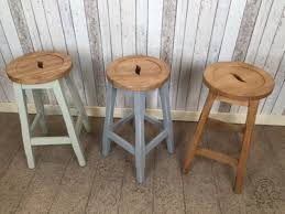 image of wooden kitchen stools for kitchen island