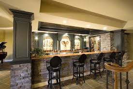 basement bar lighting. rustic brick stone bars counter for the basement also black stools plus wooden countertop bar lighting