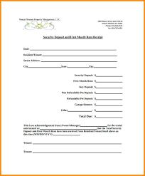 Deposit Receipt Sample Receipt For Rental Deposit Sample Example Security Rent Template