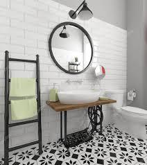 Einführen Retro Badezimmer Interieur Stockfoto Zuzulicea 109132978