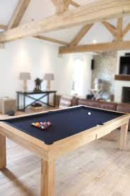 Best selling Custom Pool Table. 7' English Modern Pool table in Solid Oak  with