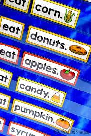 Fall Foods Pocket Chart Sentences Mrs Jones Creation Station