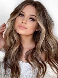 المرأة مثير لون بني طويل الشعر الاصطناعية الباروكات الجسم