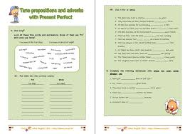 Present perfect tense worksheets for kids