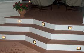 in stair lighting. Consider Deck Stair Lighting In U
