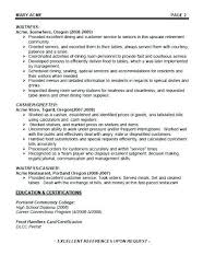 Resume Objectives For Restaurant Nfcnbarroom Com