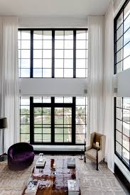 Living Room Curtain Panels Motorized Sheer Curtains Installed At This Beautiful Living Room