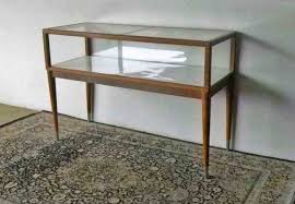 wood table top glass curio cabinets curved mirrored back lighted display case rhcom com design toscano