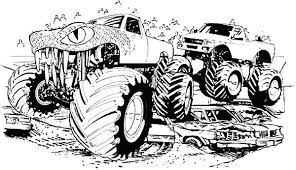 Free Printable Monster Truck Colouring Pages Children Coloring