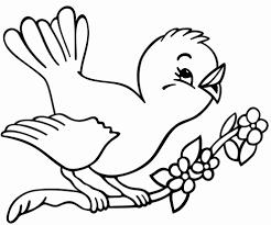 Disegni Bambini 4 Anni Disegno Di Uccelli Primavera Da Colorare