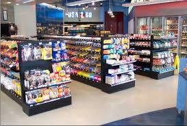 image of gondola shelving supermarket