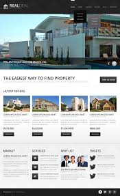 modern real estate agency joomla template