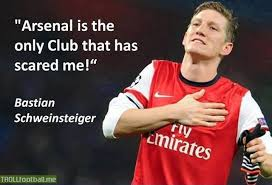 Schweinsteiger on Arsenal. | Troll Football