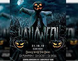 Halloween Dance Flyer Templates Halloween Night Psd Flyer Template On Behance