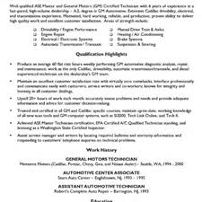 Automotive Technician Resume Car Mechanic Resume Example 50