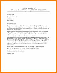 Architecture Cover Letter Examples 4 Intern Cover Letter Example