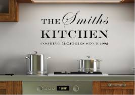 your family name and date kitchen white text es wall